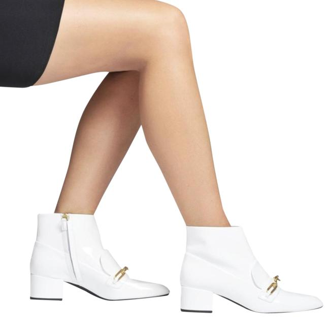 Item - White Optic Chettle Patent Boots/Booties Size EU 39.5 (Approx. US 9.5) Regular (M, B)
