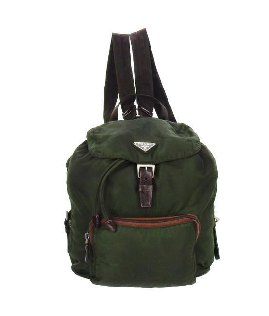 Item - Tundra Green Tessuto Nylon and Leather Backpack