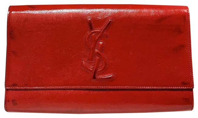 Item - Used Red Leather Clutch