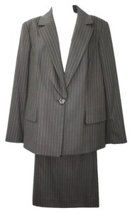 Dana Buchman DANA BUCHMAN STRIPES 3-PC. WOOL BLEND PANT SKIRT SUIT 14
