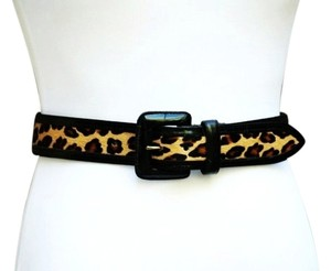 Avignon Vintage leather leopard belt