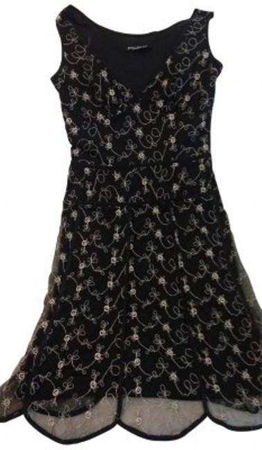 Preload https://item4.tradesy.com/images/betsey-johnson-black-knee-length-cocktail-dress-size-petite-4-s-29658-0-0.jpg?width=400&height=650