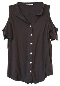 Urban Outfitters Staring At Stars Open-shoulder T-shirt T Shirt Black
