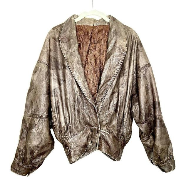 Item - Brown Vtg 80's Italy Short S/M 44 Jacket Size 6 (S)