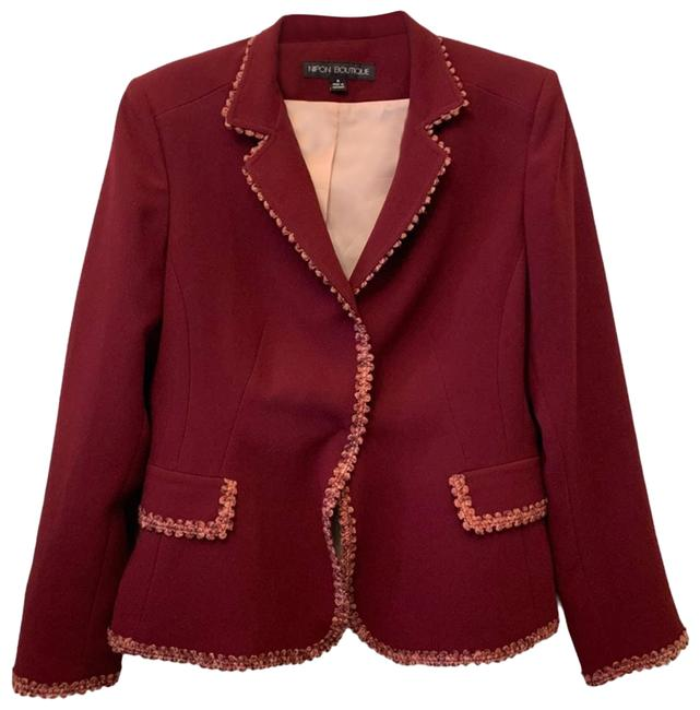 Item - Red Red/Pink Fringed Blazer Size 6 (S)