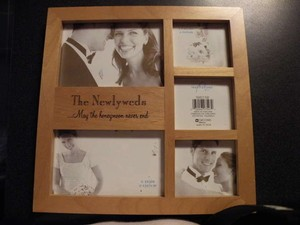 Newlywed Wooden Picture Frame
