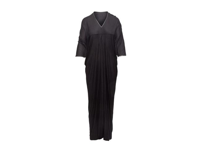 Item - Black Leather Trimmed Casual Maxi Dress Size 4 (S)