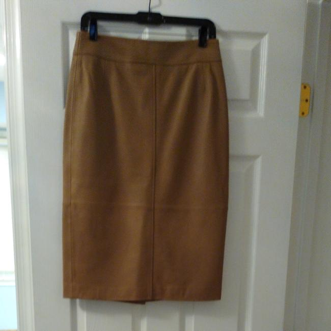 Item - Camel Leather Skirt Size 6 (S, 28)
