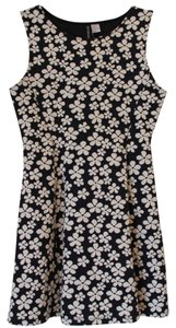 H&M short dress Navy&White Flower Print on Tradesy