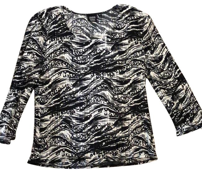 Item - Black and White Blouse Size 10 (M)