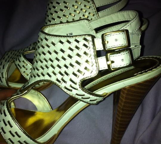 Other White/Gold Sandals