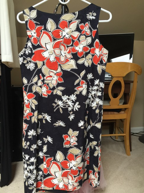Ann Taylor short dress Navy blue Floral Flowers Navy on Tradesy
