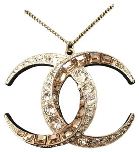Chanel Brand New Chanel Dubai Collection Large CC Pendant Two Tone Crystal In Gold