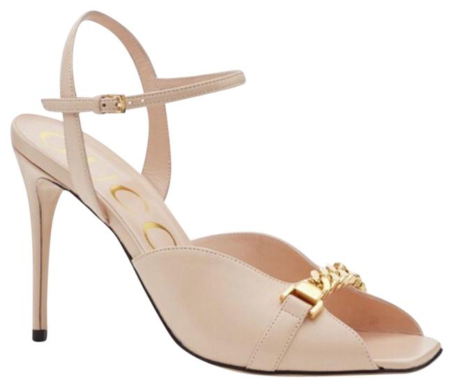 Item - Sylvie Pink 626766 Chain Leather Sandals Size EU 42 (Approx. US 12) Regular (M, B)