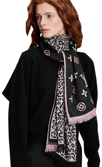 Item - Black Wild At Heart Stole M77018 Scarf/Wrap