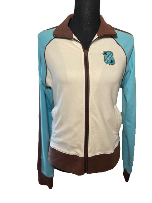 Item - Multicolor XL Juniors Zip Front Track Jacket with Pockets Activewear Size 14 (L)