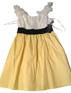 Isabella Rodriguez short dress White and Yellow on Tradesy