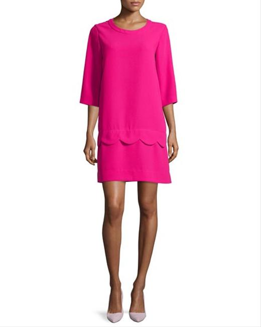 Item - Pink W Demi W/ Scalloped Detail Short Casual Dress Size 6 (S)