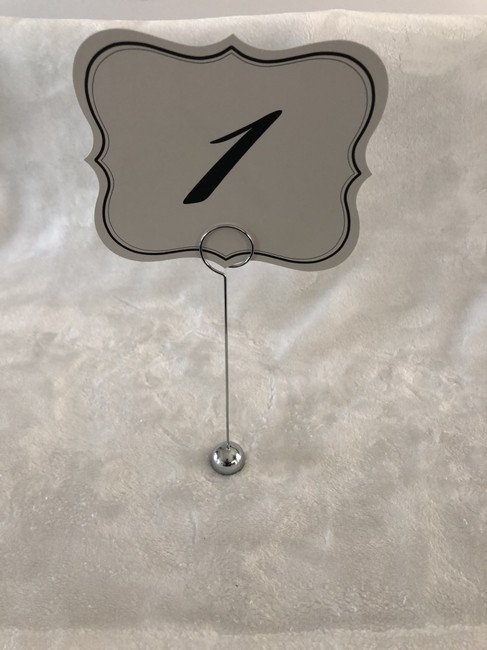 Item - Silver/Chrome 22 Table Number Holders