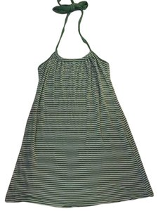 Splendid short dress Green And White Stripe Halter Summer Comfortable Cotton on Tradesy