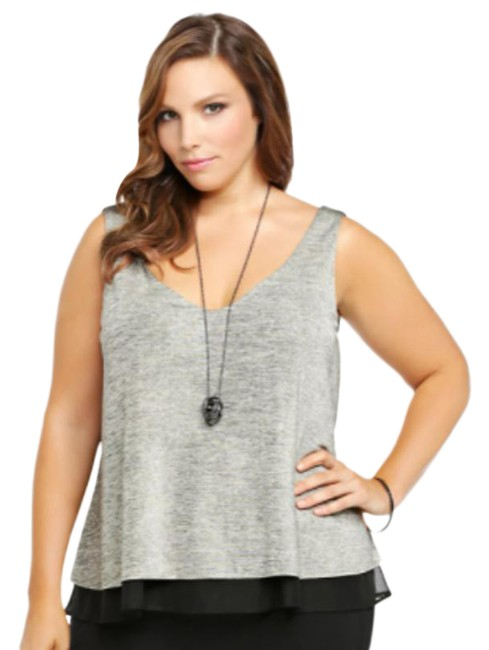 Item - Gray Shimmer Layered 3x Blouse Size 28 (Plus 3x)