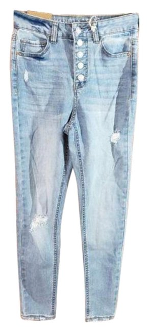 Item - Blue Light Wash Real Cheeky Curvy Skinny Jeans Size 30 (6, M)