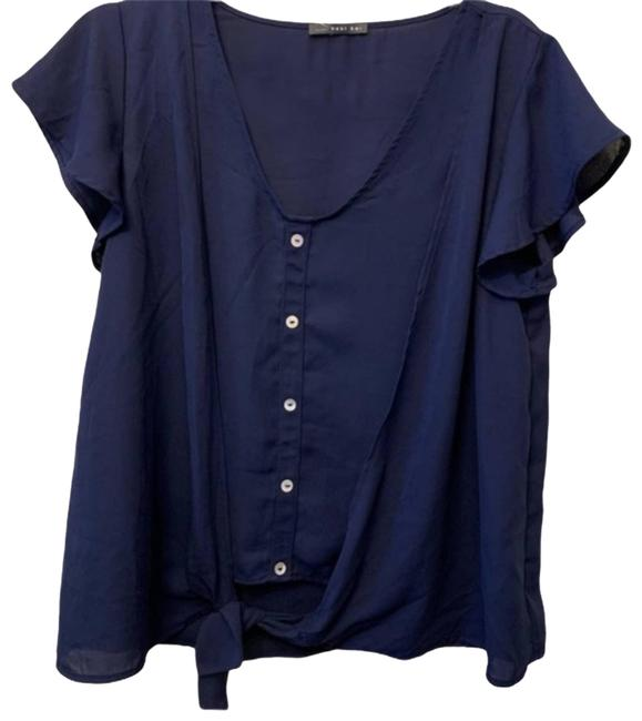 Item - Blue Small Nwot Small Navy Front Blouse Size 4 (S)