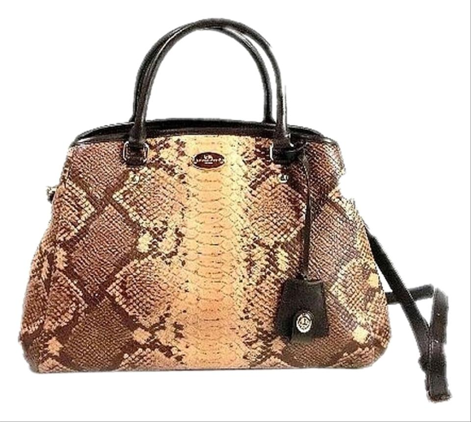 Coach Snakeskin Margot Small Hobo Cross Body Bag