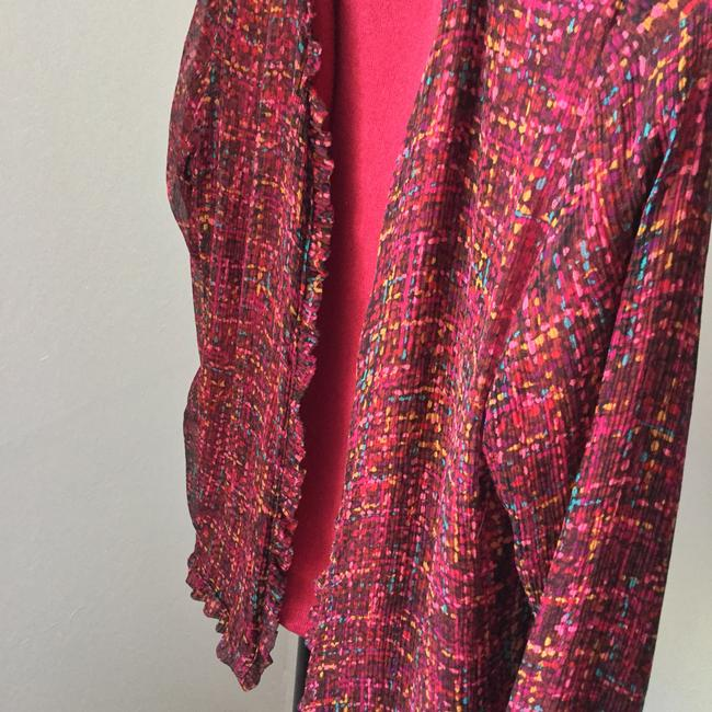 Other Cardigan Summer Cardigan Multicolored Top Pink, Yellow, Blue, Plum, Black Reversible Sweater-Jacket Jacket