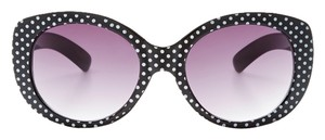 Betsey Johnson Betsey Johnson Women's Polka Dot Retro Sunglasses Black