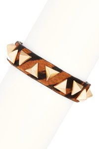 Other Natasha Accessories Pyramid Stud Bracelet (set of 2)