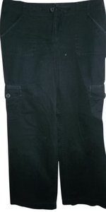 ann taylor loft 6pockets Quality Fabric Comfortable Casual Cargo Pants Black
