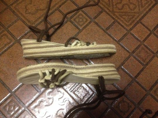 Other Espadrilles Lace Up Boho Chic Brown Wedges Image 1