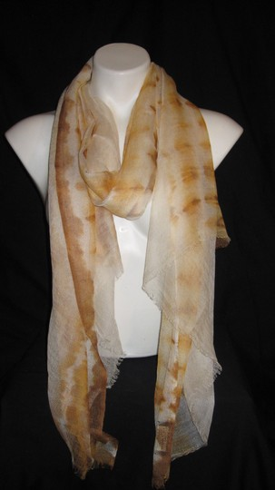 Cahsmera Co. Brown Beige Yellow Solid #113 Pashmina Shawl Scarf /Silk