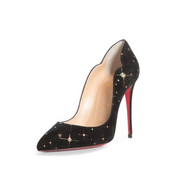 Item - Black New Hot Chick Scallop Pointed Toe Embellished Suede Pumps Size EU 37 (Approx. US 7) Regular (M, B)