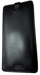 Coach NWOT Coach Soft Leather Black Eyeglass Case with Tab