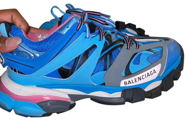 Item - Pink and Blue Track 2 Sneakers Size EU 38 (Approx. US 8) Wide (C, D)