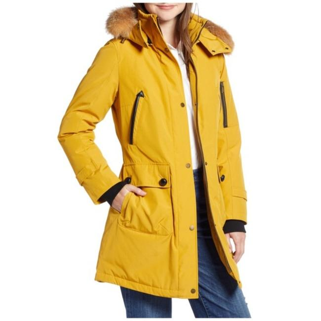 Item - Yellow /Gold Jackson Expedition Down Parka Jacket Real Raccoon Fur Coat Size 8 (M)