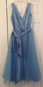 After Six Windsor Blue Polyester Formal Bridesmaid/Mob Dress Size 6 (S)