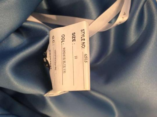 After Six Windsor Blue Polyester Formal Bridesmaid/Mob Dress Size 6 (S) Image 3