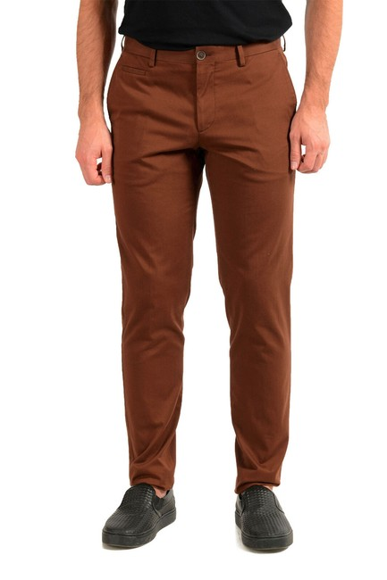 """Item - Brown W Men's """"Broad1-w"""" Flat Front Casual Us 32r It 48 Pants Size OS (one size)"""