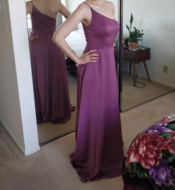 Item - Soft Rose / Chianti Polyester Traditional Bridesmaid/Mob Dress Size 4 (S)