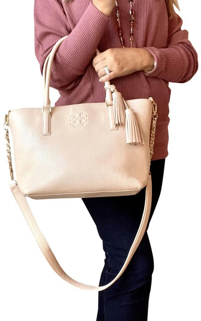 Item - Thea Pebbled Pink Leather Satchel