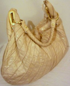 ALDO Distressed Patent Leather Gold Hardware Rare Braided Strap Hobo Bag