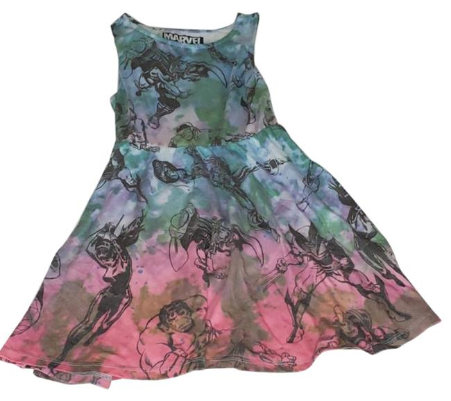 Item - Blue Pink Short Casual Dress Size 4 (S)
