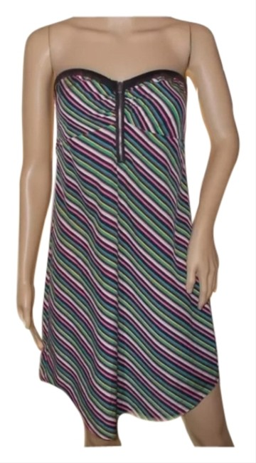 Roxy short dress Black With Colorful Stripes on Tradesy