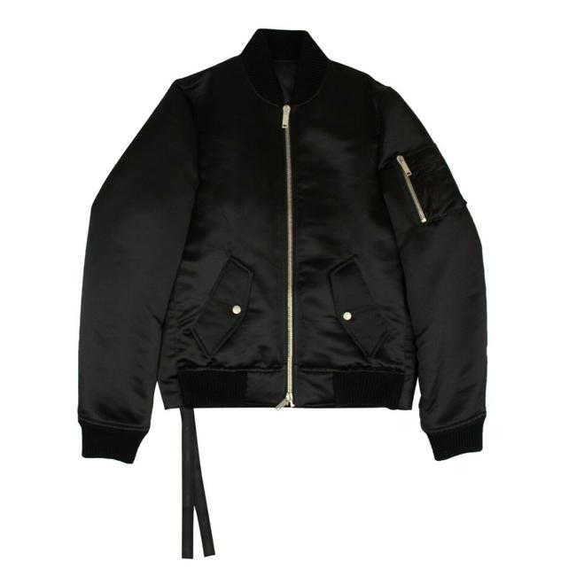 Item - Black Down Bomber Activewear Outerwear Size 14 (L)