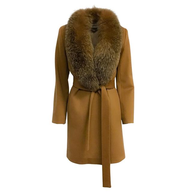 Item - Vicuna Wool with Fox Shawl and Belt Coat Size 2 (XS)