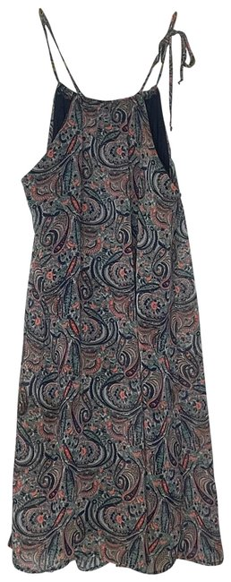 Item - Multicolor Paisley Print Lined Mid-length Short Casual Dress Size 4 (S)
