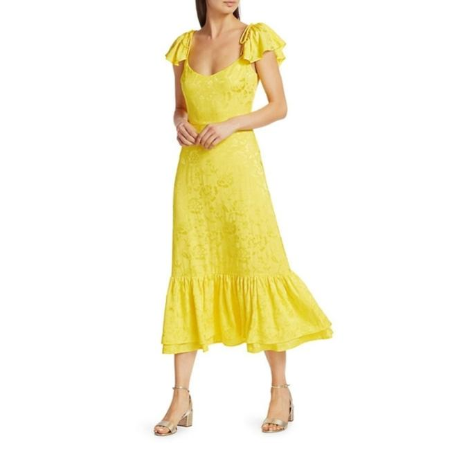 Item - Yellow Marwa Midi In Buttercup Mid-length Cocktail Dress Size 6 (S)